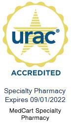 urac accredited specialty pharmacy logo, expires 2/1/2021
